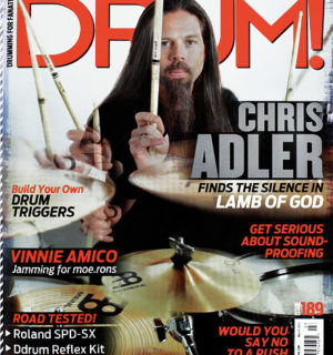 Autographed Drum! Magazine Featuring Chris Adler